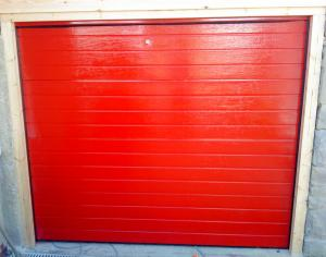 Red Sectional Door