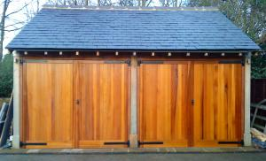 Up and Over Timber Double Garage Doors